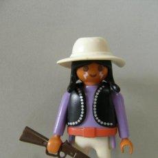 Playmobil: PLAYMOBIL FIGURA INDIO VAQUEROS OESTE WESTERN PIEZAS. Lote 34405960