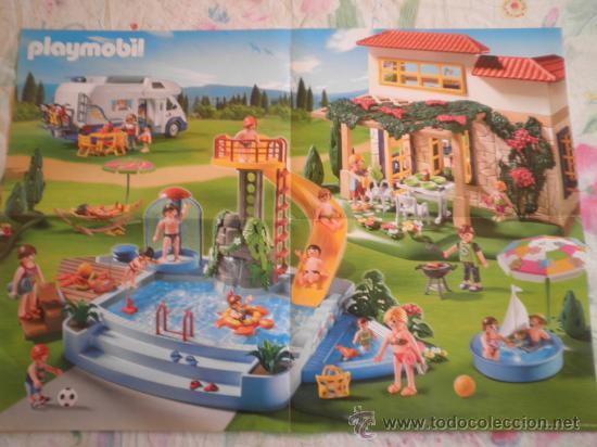 Playmobil poster casa y piscina comprar playmobil en for Piscina playmobil