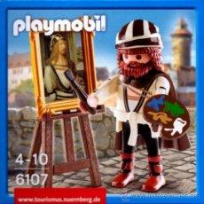 Playmobil: PLAYMOBIL PINTOR MEDIEVAL DURERO CUADRO CABALLETE EDICION LIMITADA 6107 NUEVO EN CAJA SIN ABRIR. Lote 53452349