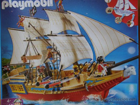 Playmobil gran galeon pirata barco piratas ref comprar for Barco pirata playmobil