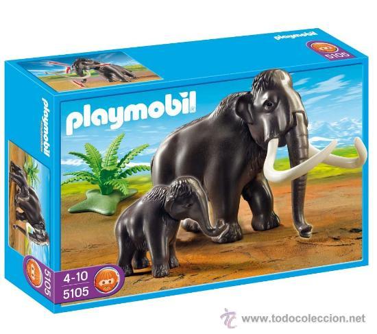 Playmobil gran mamut con cria 5105 animales eda comprar for Playmobil dinosaurios