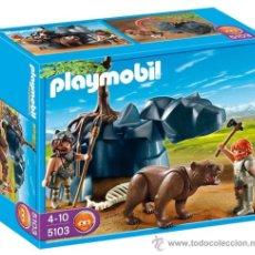 Playmobil: PLAYMOBIL GRAN OSO CAVERNICOLA CUEVA 5103 ANIMALES EDAD FUEGO DINOSAURIO ZOO NUEVO EN CAJA SIN ABRIR. Lote 35851887