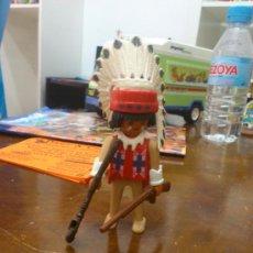 Playmobil: PLAYMOBIL JEFE INDIO CON PIPA Y RIFLE. Lote 36145937