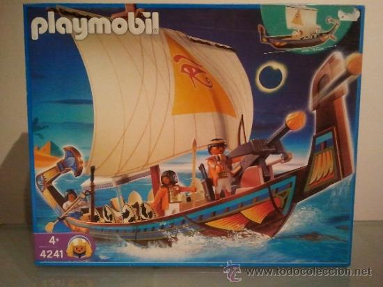 Playmobil barco egipcio ref 4241 nuevo en caja comprar for Barco pirata playmobil