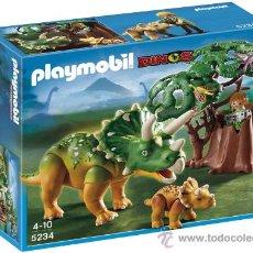 Playmobil: PLAYMOBIL GRAN TRICERATOPS DINOSAURIO ANIMALES DINOSAURIOS DINO ZOO 5234 NUEVO EN CAJA SIN ABRIR. Lote 118299140