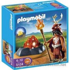 Playmobil: PLAYMOBIL GUARDIAN FUEGO CON LUZ EDAD FUEGO 5104 INDIO CAPA PIEL NUEVO EN CAJA SIN ABRIR. Lote 194265937