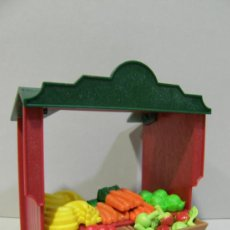 Playmobil: PLAYMOBIL PUESTO TIENDA ALIMENTOS MEDIEVAL CASTILLO VICTORIANO CASA VERDURAS FRUTAS BELEN PIEZAS. Lote 213722320