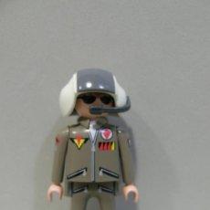 Playmobil: PLAYMOBIL FIGURA PILOTO AVION HELICOPTERO CAZA AVIACION PIEZAS . Lote 103764888