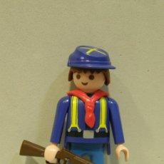 Playmobil: PLAYMOBIL FIGURA SOLDADO NORDISTA TIRANTES OESTE WESTERN NORDISTAS SUDISTAS FUERTE PIEZAS. Lote 50483858