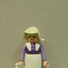 Playmobil: PLAYMOBIL FIGURA MUJER VICTORIANA CASA DELANTAL VICTORIANO OESTE WESTERN PIEZAS. Lote 83454046