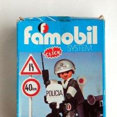 Playmobil: ANTIGUA CAJA DE FAMOBIL, POLICÍA EN MOTO. REF. 3572.. Lote 37651815