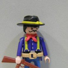 Playmobil: PLAYMOBIL FIGURA CAPITAN NORDISTA TIRANTES FUERTE SOLDADOS SUDISTAS NORDISTA OESTE WESTERN PIEZAS. Lote 94936686