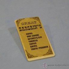 Playmobil: PLAYMOBIL CARTEL CASA DRUG - STORE 3424 EDIFICIOS PRIMERA EPOCA OESTE WESTERN PIEZAS. Lote 51464574