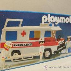 Playmobil: PLAYMOBIL ANTIGUA AMBULANCIA 3254 HOSPITAL MEDICOS HOSPITALES PRIMERA EPOCA EN CAJA. Lote 37988600
