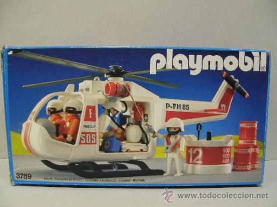 Playmobil gran helicoptero rescate nave 3789 en comprar for Helicoptero playmobil