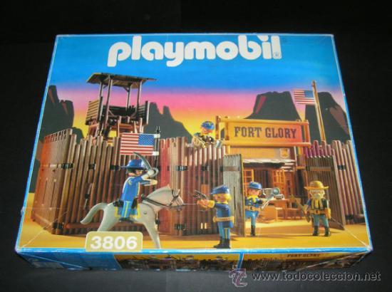 PLAYMOBIL GRAN FUERTE FORT GLORY REF: 3806 SOLDADOS NORDISTAS INDIOS OESTE WESTERN COMPLETO EN CAJA (Juguetes - Playmobil)