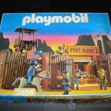 Playmobil: PLAYMOBIL GRAN FUERTE FORT GLORY REF: 3806 SOLDADOS NORDISTAS INDIOS OESTE WESTERN COMPLETO EN CAJA. Lote 38042199