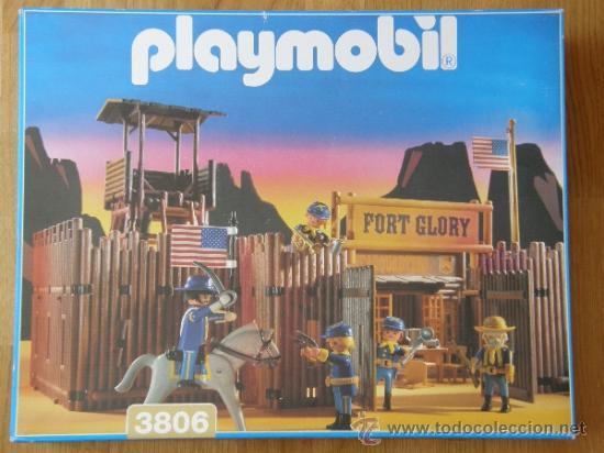 Playmobil: PLAYMOBIL GRAN FUERTE FORT GLORY REF: 3806 SOLDADOS NORDISTAS INDIOS OESTE WESTERN COMPLETO EN CAJA - Foto 3 - 38042199