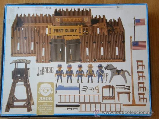 Playmobil: PLAYMOBIL GRAN FUERTE FORT GLORY REF: 3806 SOLDADOS NORDISTAS INDIOS OESTE WESTERN COMPLETO EN CAJA - Foto 2 - 38042199