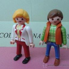 Playmobil: 2 FIGURAS MUJER PLAYMOBIL GRANJA HOSPITAL ZOO PILOTO MECANICO PARQUE PISCINA ACCESORIOS. Lote 38388705