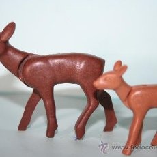 Playmobil: PLAYMOBIL MEDIEVAL ANIMAL CIERVA CON CRIA. Lote 179247553