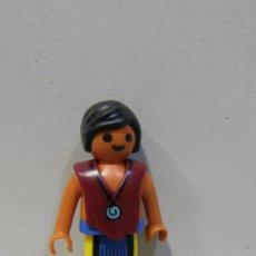 Playmobil: PLAYMOBIL FIGURA NIÑO INDIO PLUMAS POBLADO INDIOS OESTE WESTERN PIEZAS. Lote 38932782