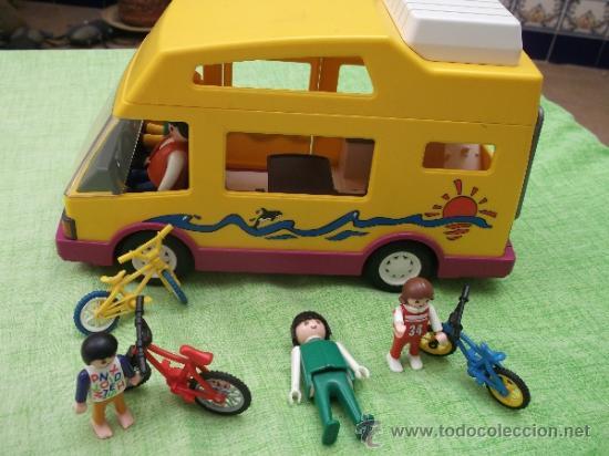 Lote playmobil autocaravana camping biciclet comprar for Autocaravana playmobil