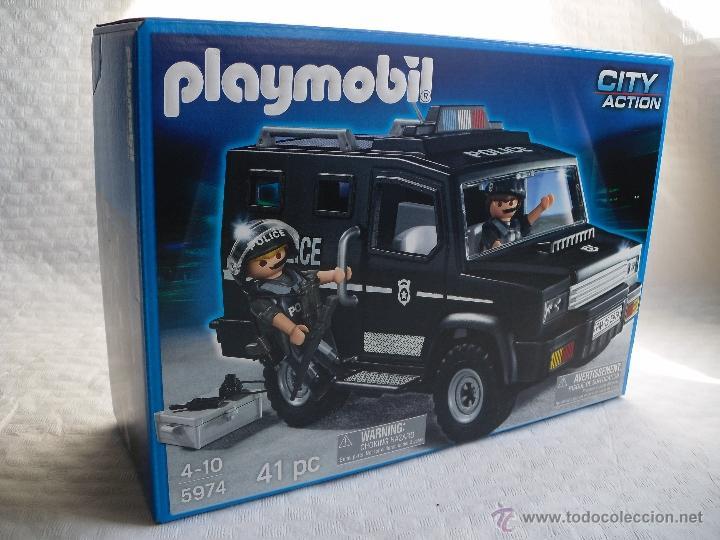 PLAYMOBIL 5974 VEHICULO FURGON TODOTERRENO POLICIA SWAT FAMOBIL (ZCETA) (Juguetes - Figuras de Acción - Playmobil)