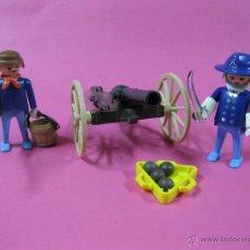 Playmobil: PLAYMOBIL NORDISTAS CON CAÑON GENERAL OESTE -. Lote 40059593