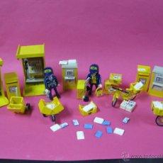 Playmobil: PLAYMOBIL ESPECTACULAR LOTE CORREOS CABINA TELÉFONO Y CARTEROS -. Lote 40401646