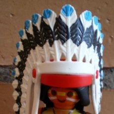 Playmobil: FIGURA PLAYMOBIL JEFE INDIO PLUMAS. Lote 40846609