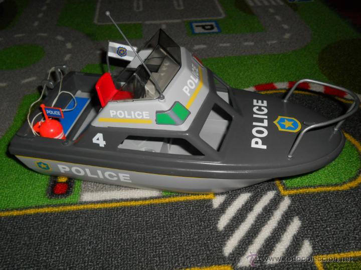 Lote Juguetes Playm Barco Subasta Vendido Lancha En Policia Motora WEI29DH