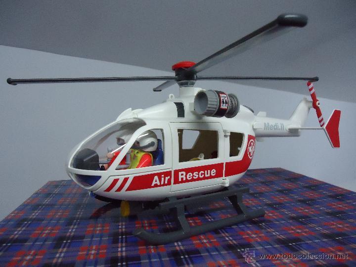 Playmobil helicoptero rescate como nuevo envi comprar for Helicoptero playmobil