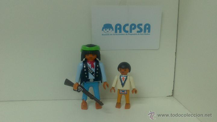 PLAYMOBIL PADRE E HIJO INDIOS DE CAZA (Juguetes - Playmobil)