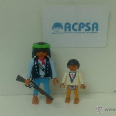 Playmobil: PLAYMOBIL PADRE E HIJO INDIOS DE CAZA. Lote 41778302