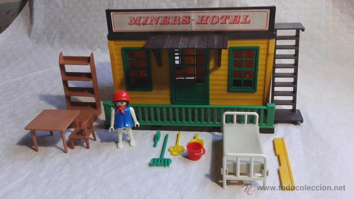 Playmobil 3426 miners hotel casa oeste western comprar for Casa playmobil precio