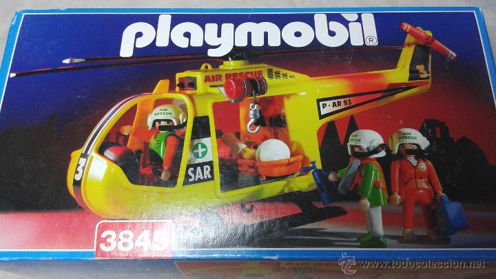 Playmobil 3845 helicoptero de rescate amarillo comprar for Helicoptero playmobil