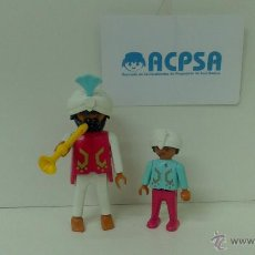 Playmobil: PLAYMOBIL MUSICOS INDIOS AMBULANTES ( PADRE E HIJO ). Lote 42544464