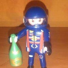 Playmobil: PLAYMOBIL CORREDOR PILOTO DE MOTO COCHE CON BOTELLA SERIE 3 NUEVO. Lote 44140542