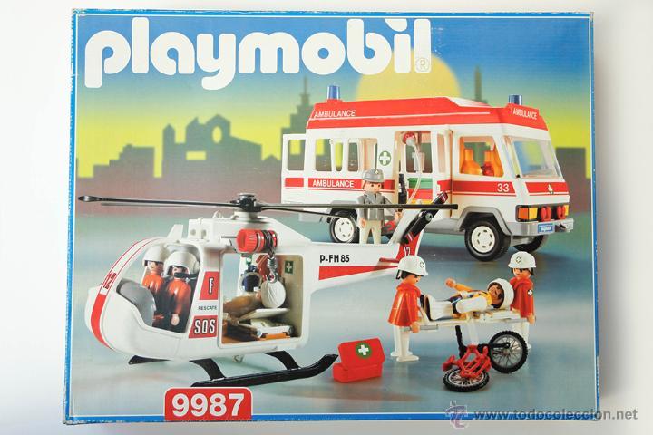 Playmobil ref 9987 ambulancia y helicoptero de comprar for Helicoptero playmobil
