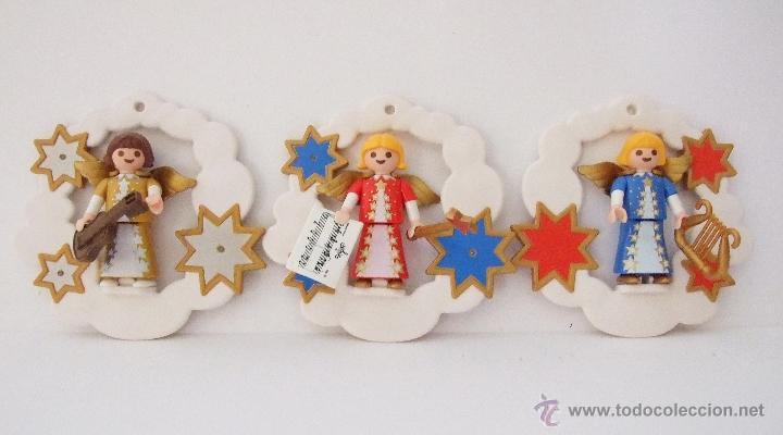 playmobil angeles para colgar en arbol de navidad belen juguetes figuras de