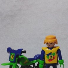 Playmobil: PLAYMOBIL PILOTO DE MOTOS COMPETICION CIUDAD FAMOBIL (ZCETA). Lote 45651079