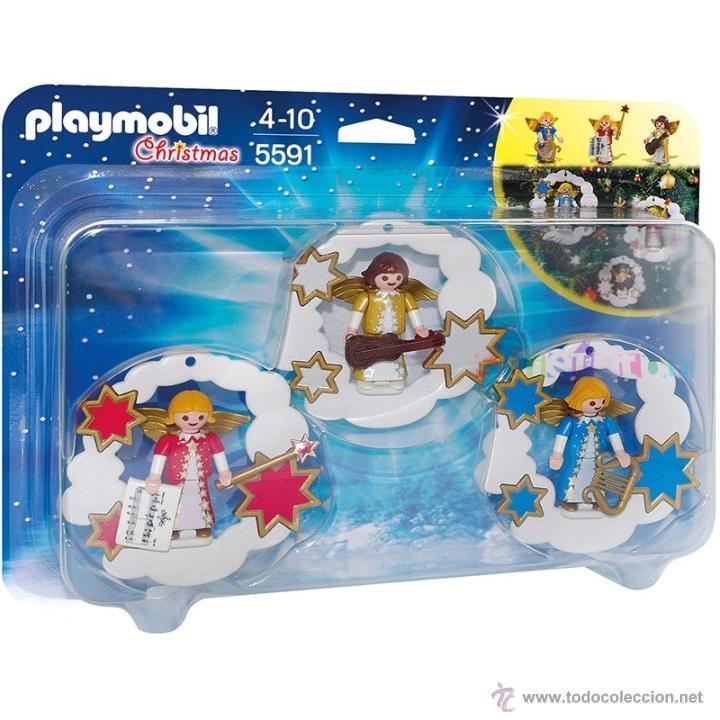 playmobil adornos colgantes navideos arbol navidad nuevo en caja sin abrir juguetes figuras