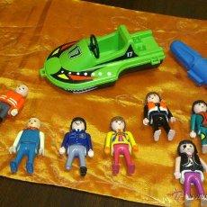 Playmobil: LOTE DE 7 FIGURAS DE PLAYMOBIL Y COCHE ACUÁTICO CON MOTOR. GEOBRA 1974 ,1992,2001.DIFERENTES AÑOS.. Lote 46376755
