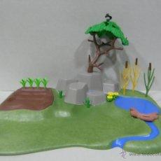 Playmobil: PLAYMOBIL ESCENA BOSQUE RIO HUERTO MEDIEVAL BELEN ANIMALES VARIOS PIEZAS. Lote 106175259