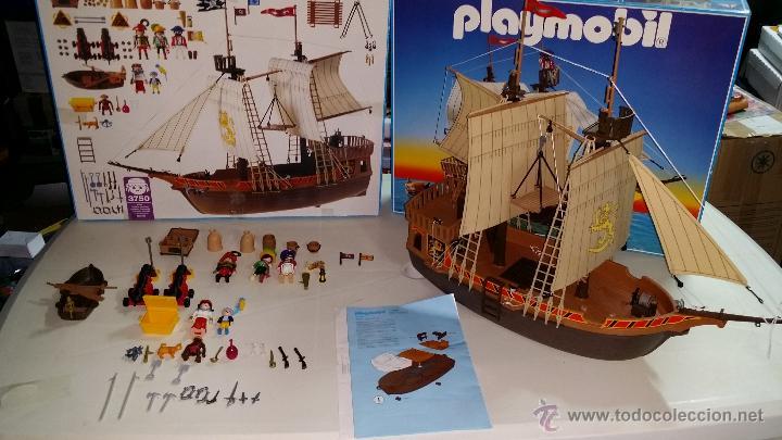 Playmobil 3750 barco pirata con su caja muy comprar for Barco pirata playmobil
