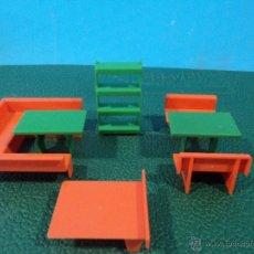 Playmobil: -PLAYMOBIL-REF-3249-MOBILIARIO COMPLETO CARAVANA-1ª GENERACION-CAMPING-PIEZAS-REPUESTOS. Lote 48201878