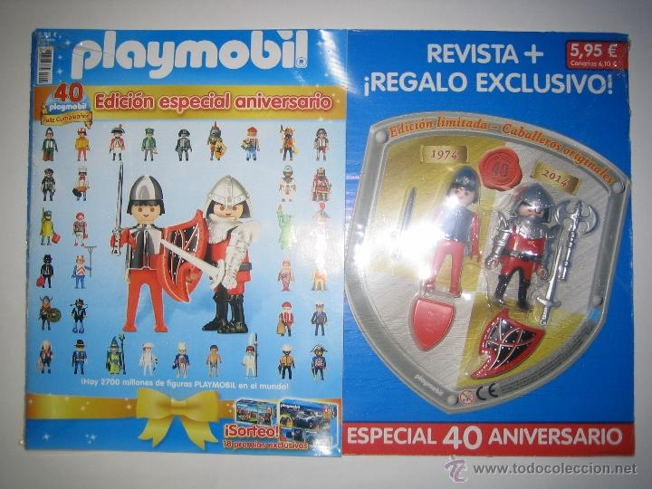 Playmobil Pz Revista 40 Aniversario Con 2 Figur Vendido
