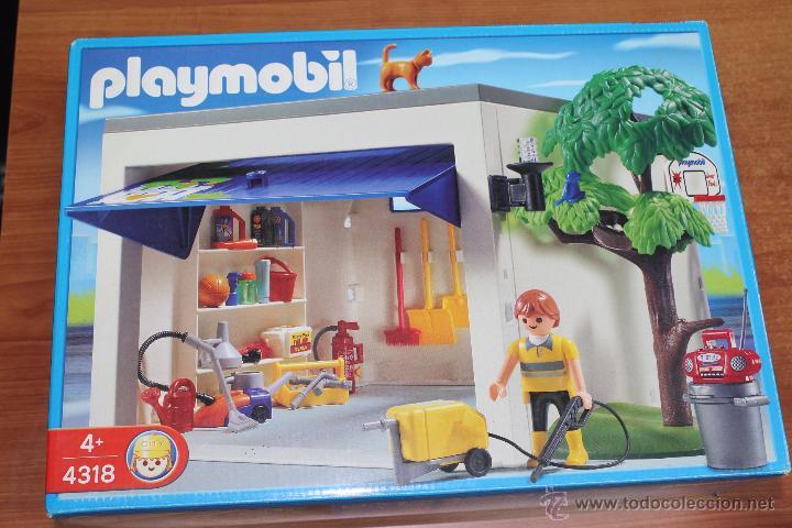 Playmobil 4318 garaje de la casa para coche c comprar for La casa de playmobil