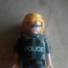 Playmobil: FIGURA DE PLAYMOBIL POLÍCIA CON AURICULAR, VERSIÓN GRIS. Lote 143380232